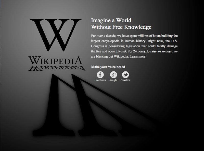 Wiki Blackout