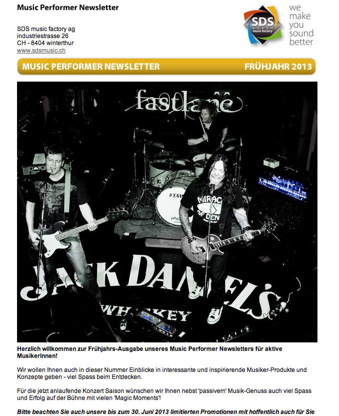 Fast Lane featured on SDS Music Factory